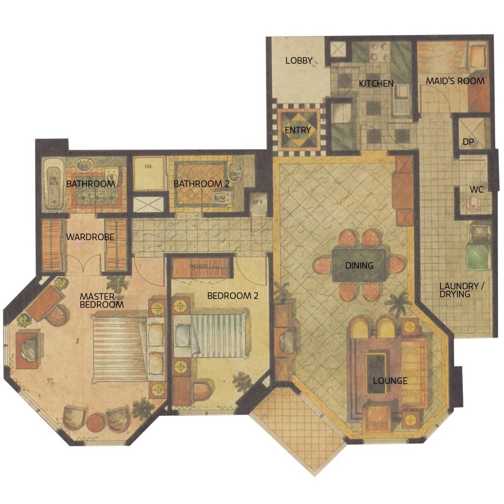 Apartemen Gandaria 2kamar-unit-1-6
