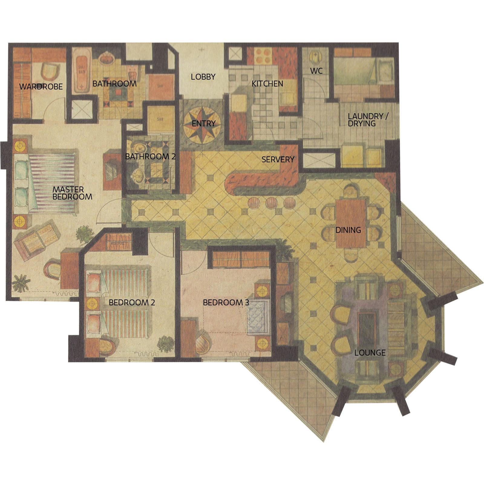 Apartemen Gandaria 3 Kamar Unit 3