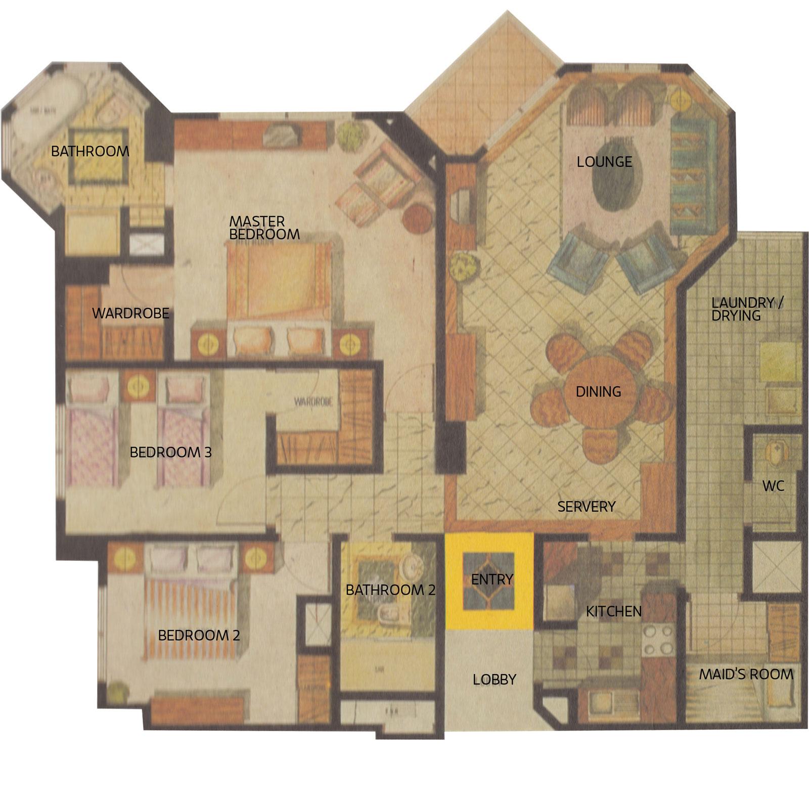 Apartemen Gandaria 3 Kamar Unit 8